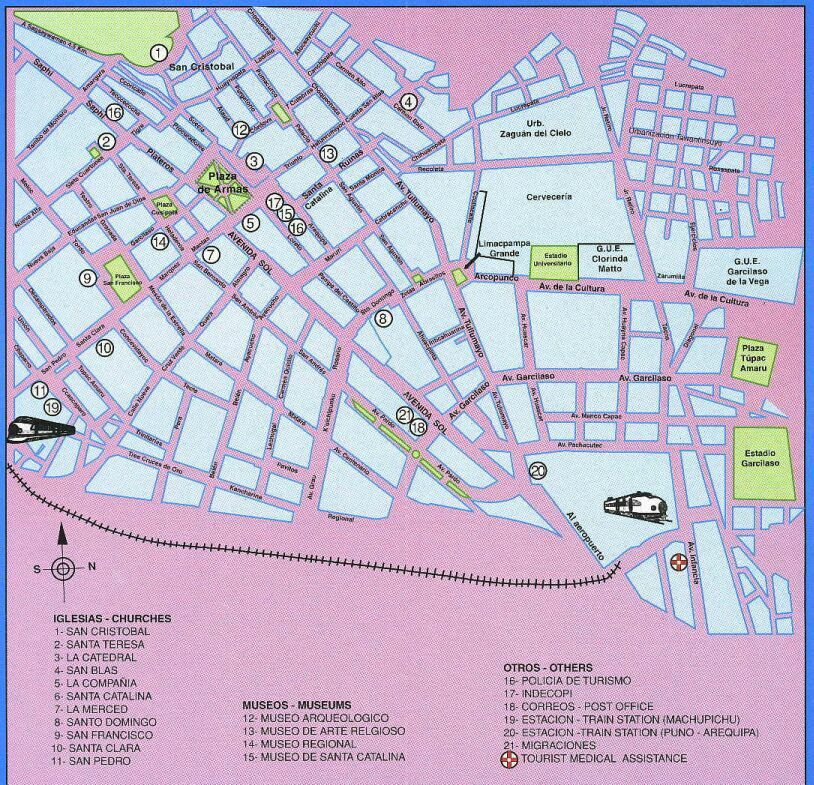 Maps Of Peru - Cities map of peru
