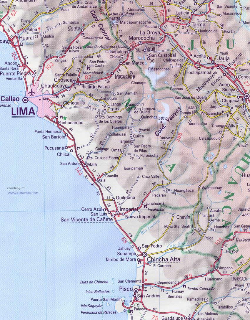 Maps Of Peru - Peru map lima