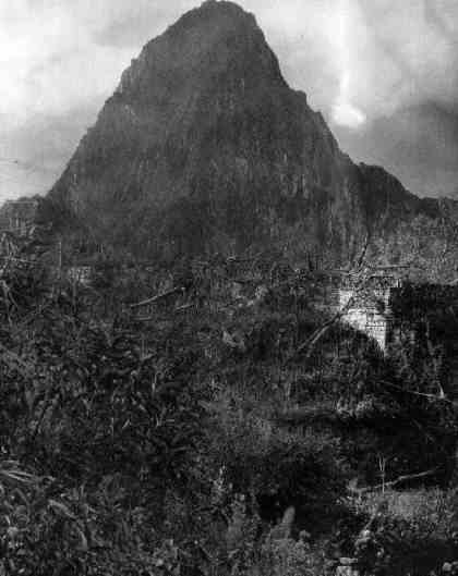The first picture ever taken from Machu Pucchu (Hiram Bingham)