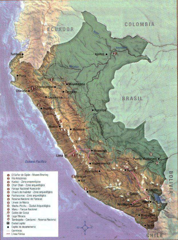 topographic maps of peru. Peru topgraphic map with the