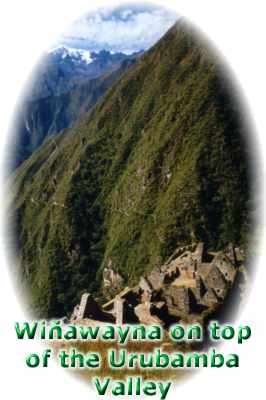 Winawayna on top of the Urubamba River